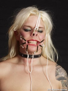 Nose hooks and face torture